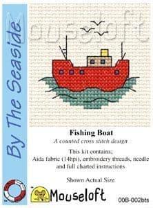 Mouseloft Fishing Boat By The Seaside cross stitch kit